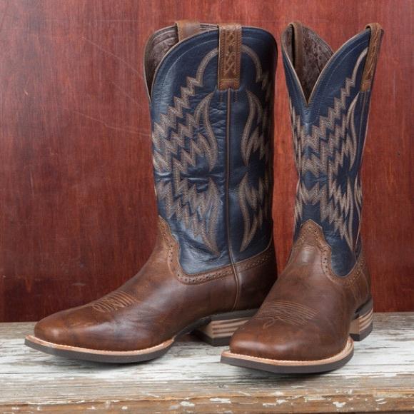 d31fe934dd5 New Arias Tycoon square toe cowboy boots IOB NWT